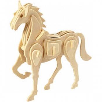3d medinė dėlionė ''Žirgas''