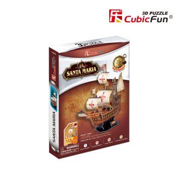 "T4008H CubicFun 3D dėlionė ""Laivas ""Santa Maria"""