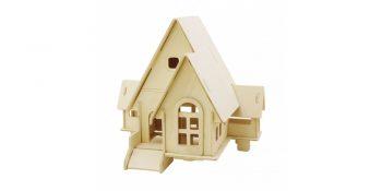 3d medinė dėlionė ''Namas su rampa''