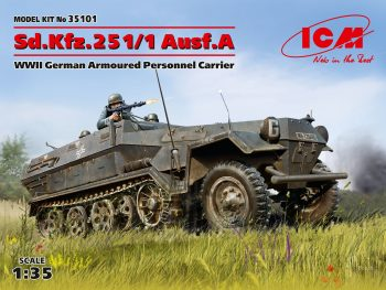 35101 ICM Sd.Kfz.251/1 Ausf.A, WWII German Armoured Personnel Carrier (100% new molds)