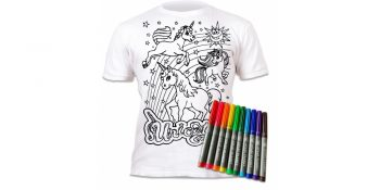Splat Planet marškinėliai su flomasteriais