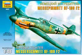 4802 Zvezda German IIWW fighter Messerschmitt Bf109 F2