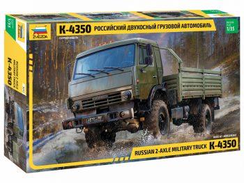 3692 Zvezda - KAMAZ 2-Axle Military Truck K-4350, 1/35