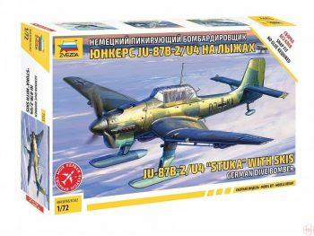 "7323 Zvezda - Ju-87B2/U4 ""StuKa"" with Skis German Dive Bomber, 1/72"