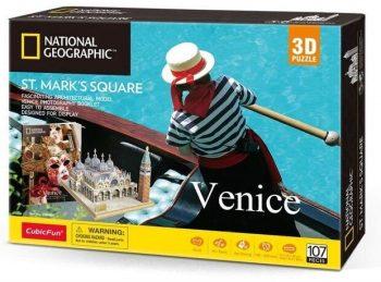 """DS0980H CUBICFUN 3D dėlionė iš serijos """"National Geographic"""" - """"Šv. Marko aikštė"""""""