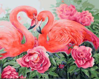 GX31635 TSVETNOY Piešimas pagal skaičius - Flamingo (40x50 cm)