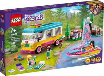 41681 LEGO® Friends Miško stovyklautojų furgonas ir burlaivis
