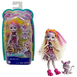 GTM27 Mattel Enchantimals herojė zebrė Zadi su gyvūnėliu