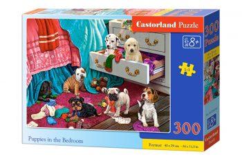B-030392 Castorland PUPPIES IN THE BEDROOM