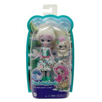 GJX42 Mattel Enchantimals snieginė leopardė Sibilė su draugu