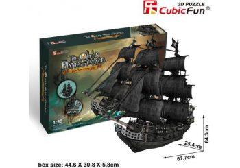 "T4018h CUBICFUN 3D dėlionė Piratų laivas ""Karalienė Ana"""