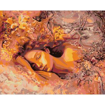 Piešimas pagal skaičius - Mieganti moteris (40x50 cm)
