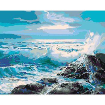 Piešimas pagal skaičius - Siaučianti jūra (40x50 cm)