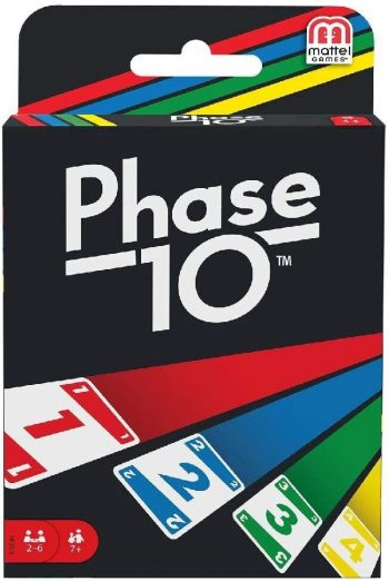 FFY05 UNO sutampančių kortų žaidimas PHASE 10