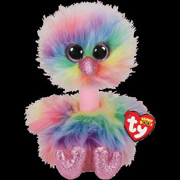TY Beanie Boos pliušinis spalvotas strutis ASHA 15 cm, 62813