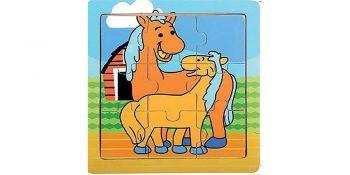Medinė dėlionė arkliukai