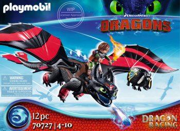 Playmobil Dragons, Drakonų lenktynės: Hiccup ir Toothless, 70727