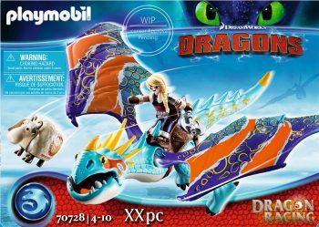 Playmobil Dragons, Drakonų lenktynės: Astrida ir Stormfly, 70728