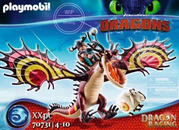 Playmobil Dragons, Drakonų lenktynės: Snotlout ir Hookfang, 70731