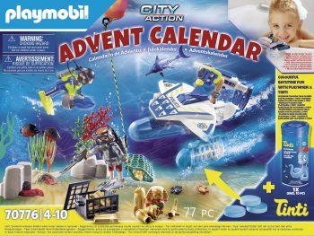 Playmobil City action, Policijos paieškos vandneyje Advento kalendorius, 70776