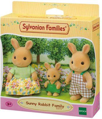 5372 SYLVANIAN FAMILIES Saulės zuikučių šeimynėlė (3 figūrėlės)
