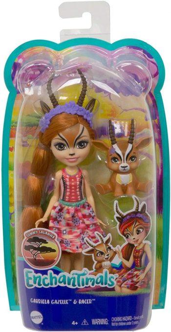 GTM26 Mattel Enchantimals herojė gazelė Gabriela su gyvūnėliu
