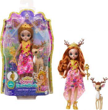 GYJ12 Mattel Enchantimals karališka lėlė Diaila su gyvūnėliu