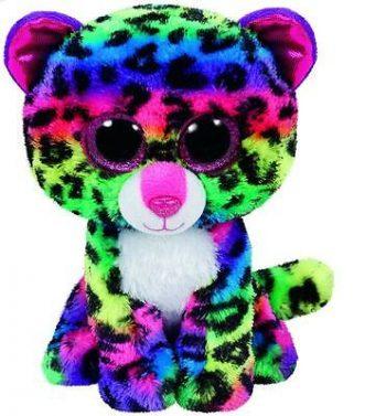 TY Beanie Boos pliušinis spalvotas leopardas DOTTY, 15,5 cm, 37189