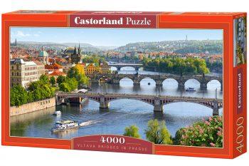 C-400096 Castorland VLTAVA BRIDGES IN PRAGUE