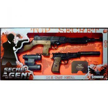 239/6 GONHER Slaptojo agento rinkinys su dviem šautuvais ir žiūronais