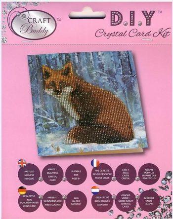 "CCK-A9 ""Lapė"" 18x18cm Crystal Art , dovanų atvirutė"