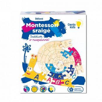 0178 Genio kids Dėlionė Montessori sraigė
