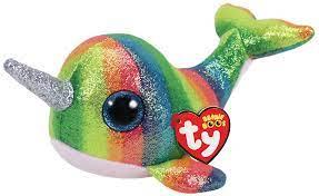 TY Beanie Boos pliušinis banginis spalvotas NORI, 15cm, TY36216