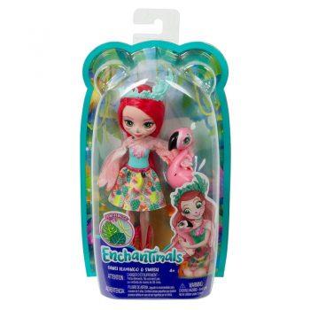 GFN42 Mattel ENCHANTIMALS Fanci Flamingo & Swash Doll