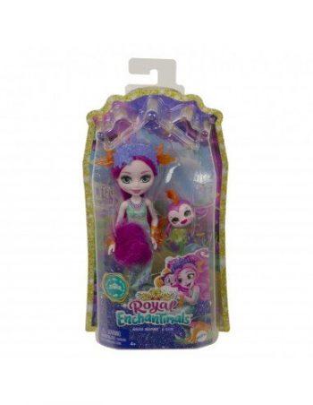 GYJ02 Mattel Enchantimals undinė Maura su gyvūnėliu