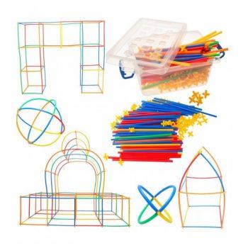 9583 Konstruktorius plastikiniai šiaudeliai 400 detalių