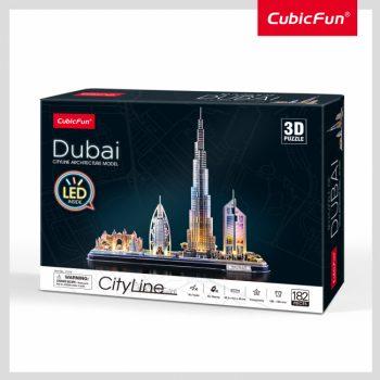 """L523H CUBFUN City Line 3D dėlionė su LED (didelė)""""Dubajus"""""""
