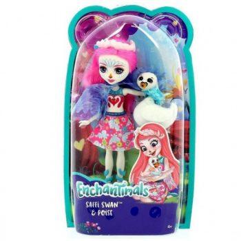 FRH38 Mattel ENCHANTIMALS herojė Gulbė Safi su gyvūnėlu