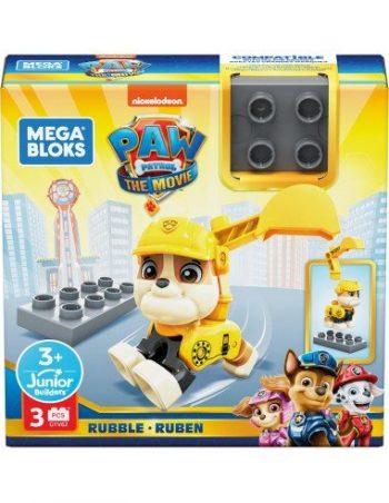 GYH89 Mega Bloks Paw Patrol šuniukų figurėlė RUBBLE
