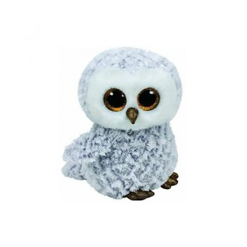 Pliušinis žaislas TY Beanie Boos Owl Owlette White, 24 cm, 70863