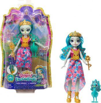 GYJ14 Mattel Enchantimals karališka lėlė Penelopė su gyvūnėliu