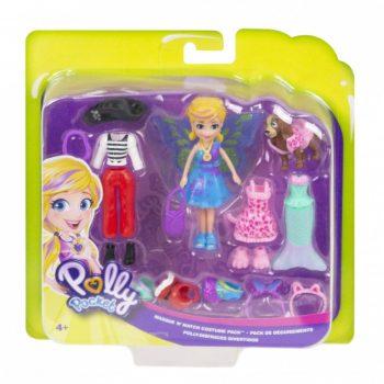 GDM15 Mattel Polly Pocket lėlytė + rūbeliai ir aksesuarai
