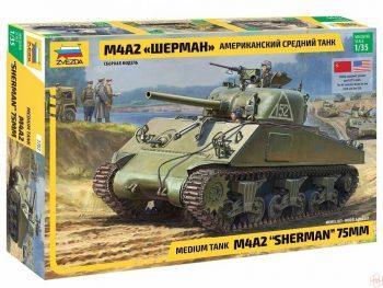3702 Zvezda - M4A2 Sherman, 1/35