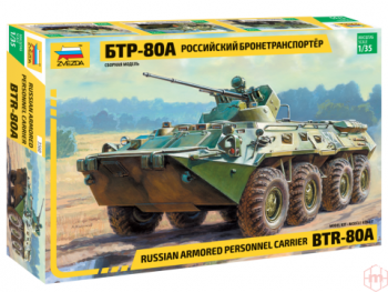 3560 Zvezda - Russian personal armored carrier BTR-80A, 1/35