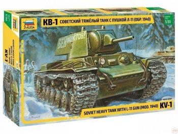 3624 Zvezda - KV-1 Soviet Heavy Tank mod.1940 with L-11 Gun, 1/35