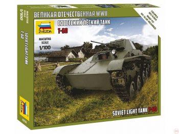 6258 Zvezda - T-60 Soviet Light Tank, 1/100,