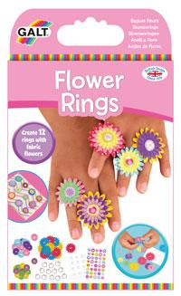 Rinkinys FLOWER RINGS, 6m.+, Galt, 1005218