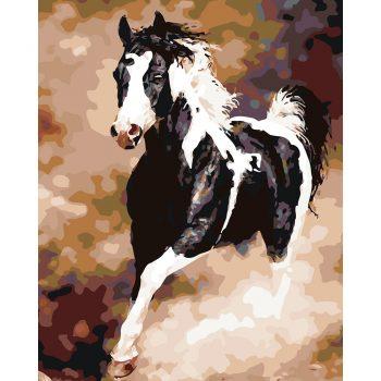 """Piešimas pagal skaičius """"Žirgas"""" (40x50 cm)"""