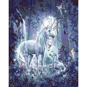 """Piešimas pagal skaičius """"Baltasis žirgas"""" (40x50 cm)"""