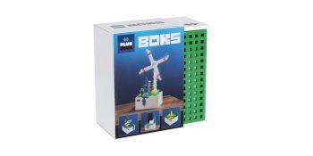 Plus Plus konstruktorius, Vėjo malūnas, medinė dėžutė, 7013